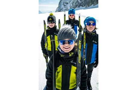 Bežecké lyžovanie - Fischer SPRINT CROWN MIX + vázání Rottefella JUNIOR AUTO