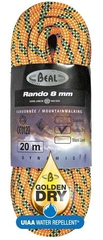Lezecké vybavenie - BEAL Rando 8mm golden dry 48m