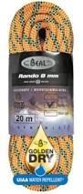 Lezecké vybavenie - BEAL Rando 8mm golden dry 20m