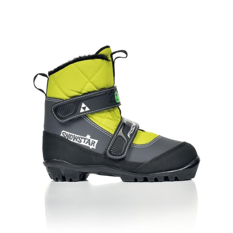 Bežecké lyžovanie - Běžecké boty Fischer SNOWSTAR BLACK YELLOW 2016/17